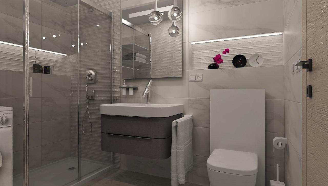 100+ riešení / Niky a murované poličky v kúpeľni / Naše 3D návrhy - Obrázok č. 12