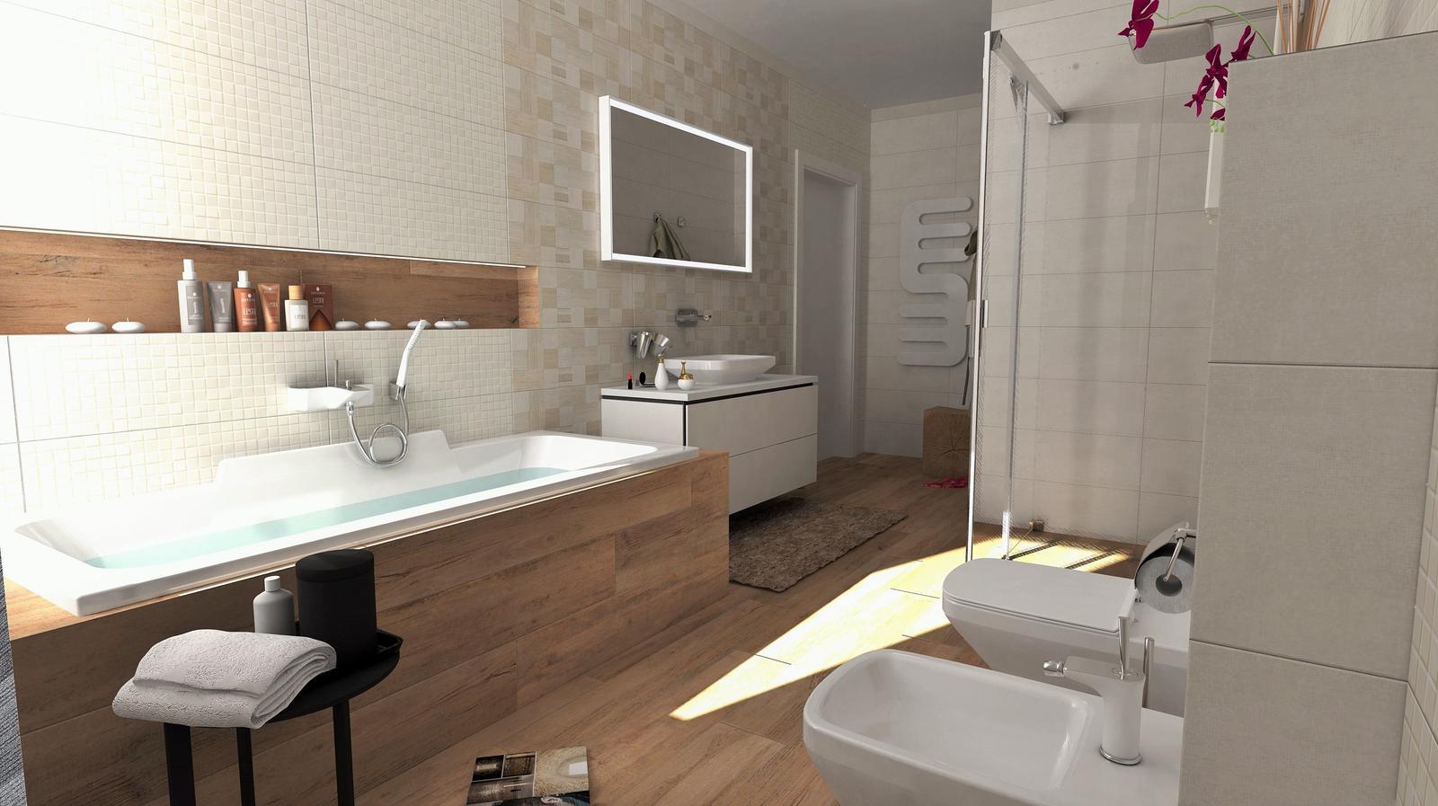 100+ riešení / Niky a murované poličky v kúpeľni / Naše 3D návrhy - Obrázok č. 19