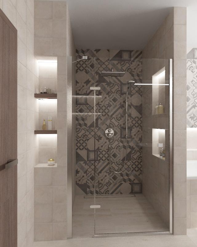 100+ riešení / Niky a murované poličky v kúpeľni / Naše 3D návrhy - Obrázok č. 26