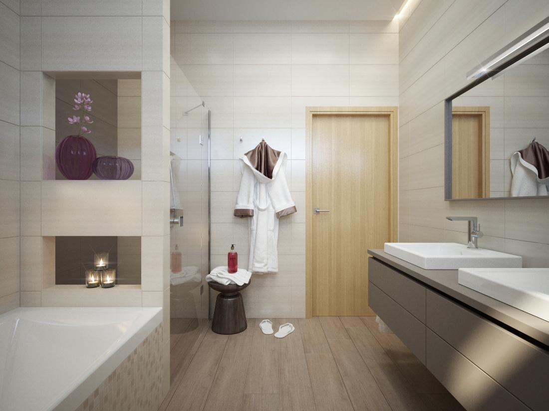 100+ riešení / Niky a murované poličky v kúpeľni / Naše 3D návrhy - Obrázok č. 55
