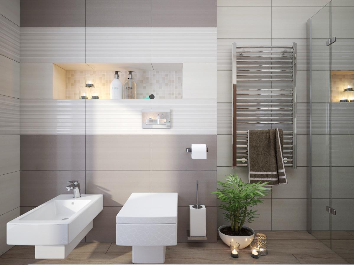 100+ riešení / Niky a murované poličky v kúpeľni / Naše 3D návrhy - Obrázok č. 2