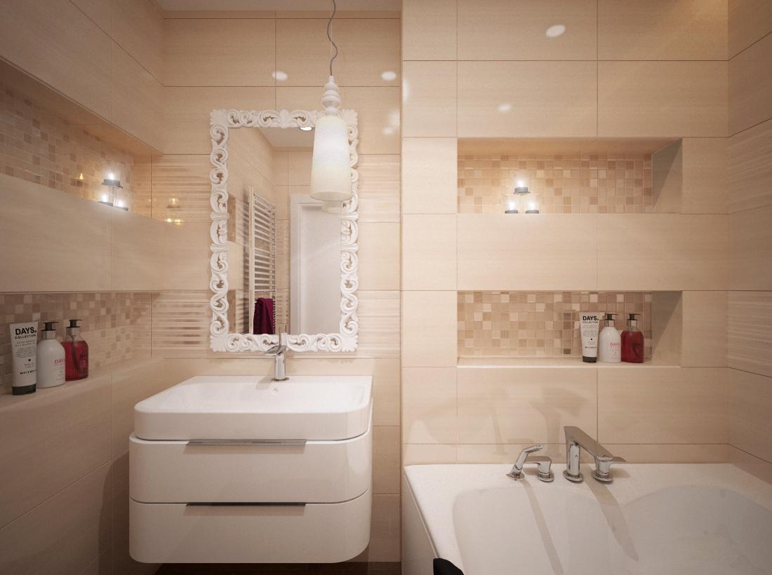 100+ riešení / Niky a murované poličky v kúpeľni / Naše 3D návrhy - Obrázok č. 67