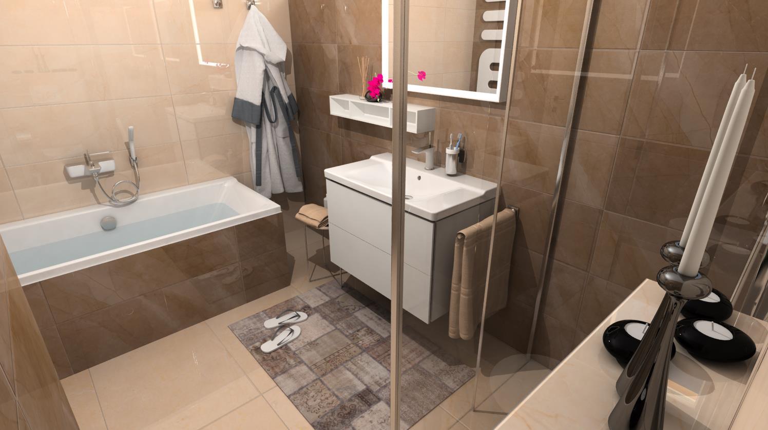 Vizualizácie kúpeľne - Obrázok č. 39
