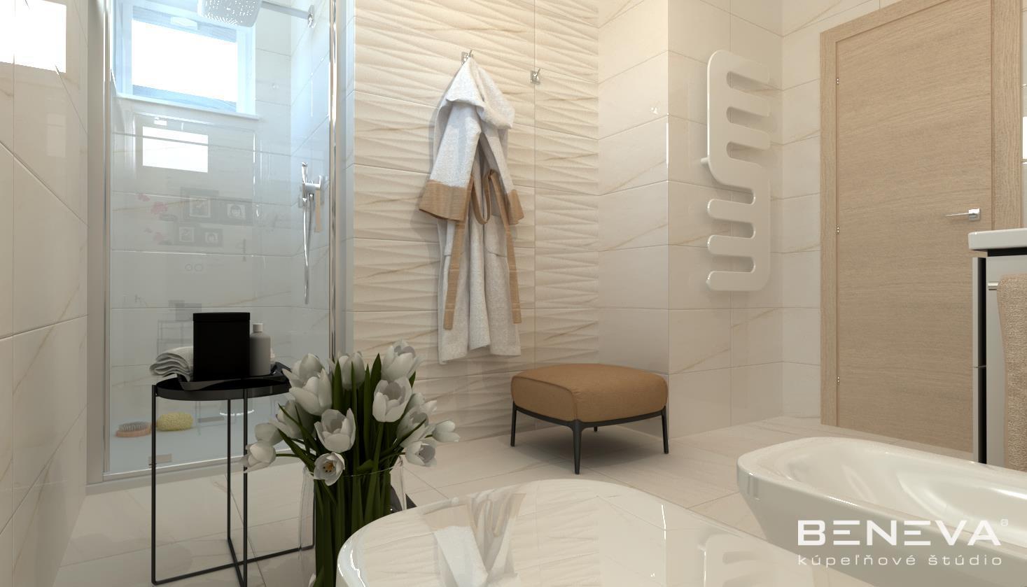 Vizualizácie kúpeľne - Luxusná kúpeľňa / vizualizácia - www.beneva.sk