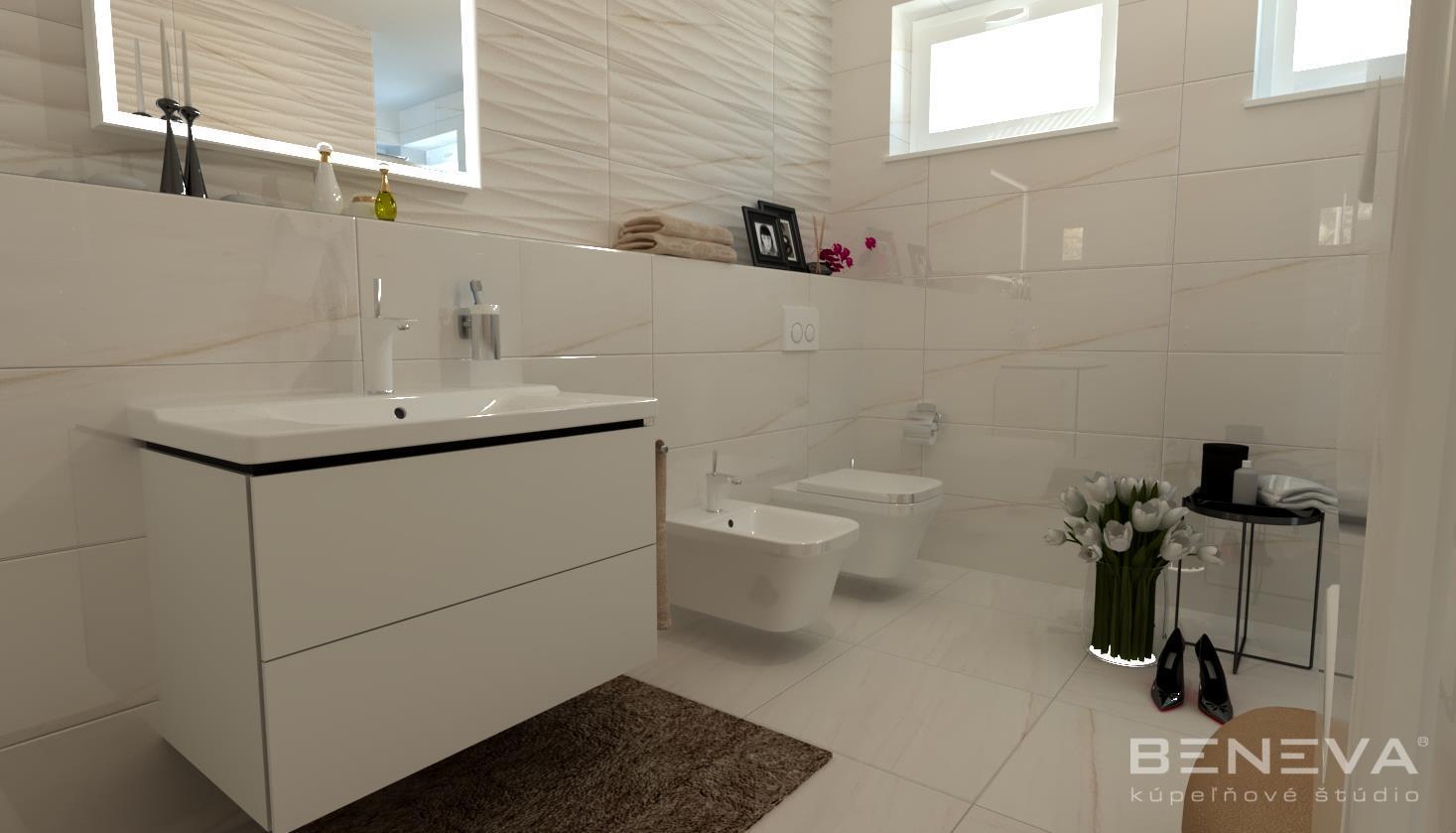 Vizualizácie kúpeľne - Luxusná kúpeľňa Nitra