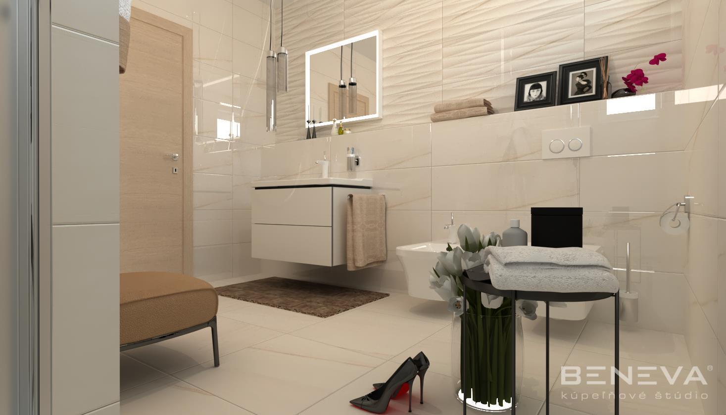 Vizualizácie kúpeľne - Luxusná kúpeľňa