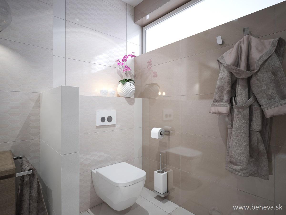 Vizualizácie kúpeľne - Návrh kúpeľne BENEVA