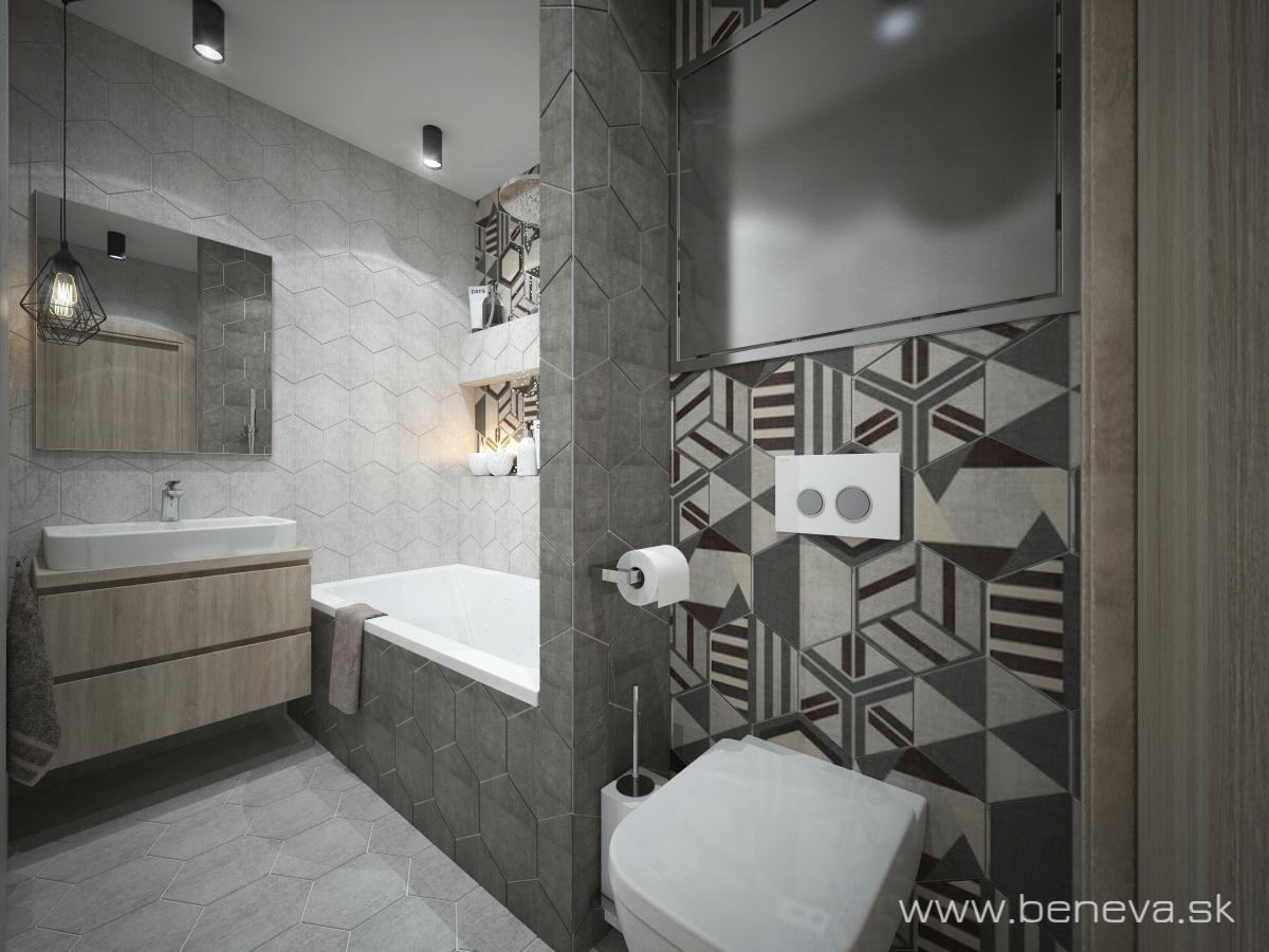 Vizualizácie kúpeľne - Kúpeľňa BENEVA