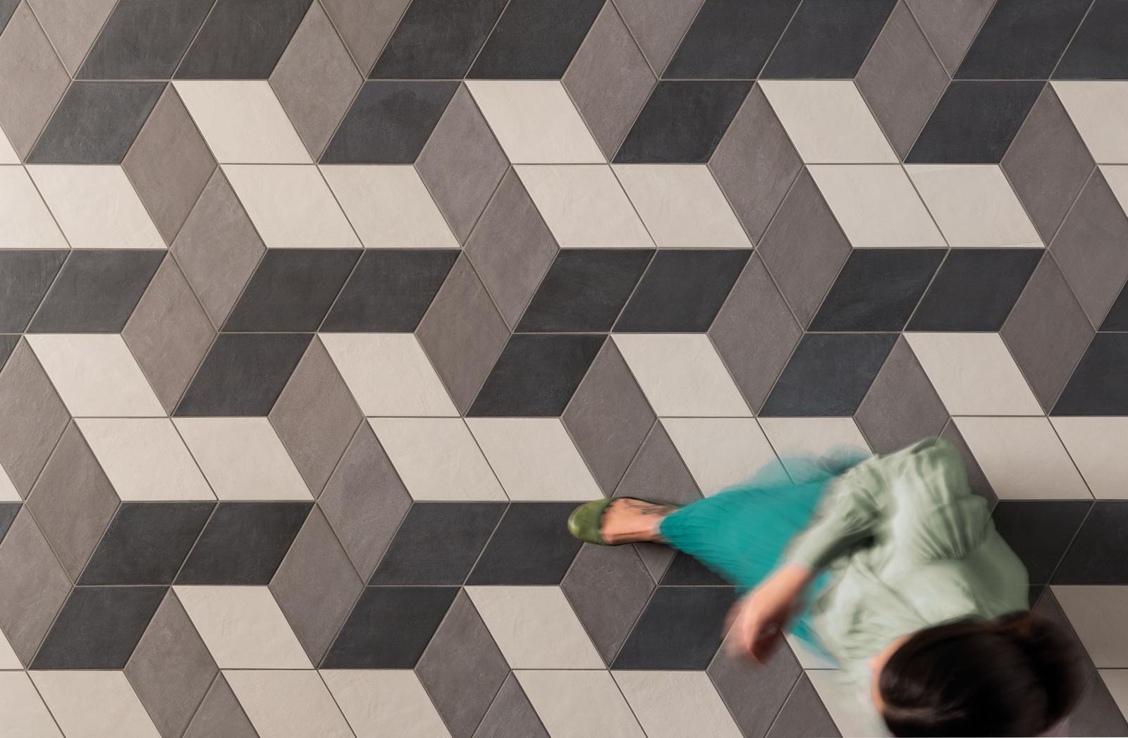 Interiérové dlažby - Dlažba hexagon BENEVA
