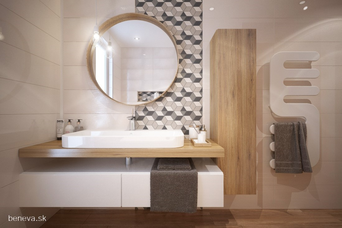 3D návrhy kúpeľní / Vizualizácie - 3D návrh kúpeľne / Vizualizácia BENEVA