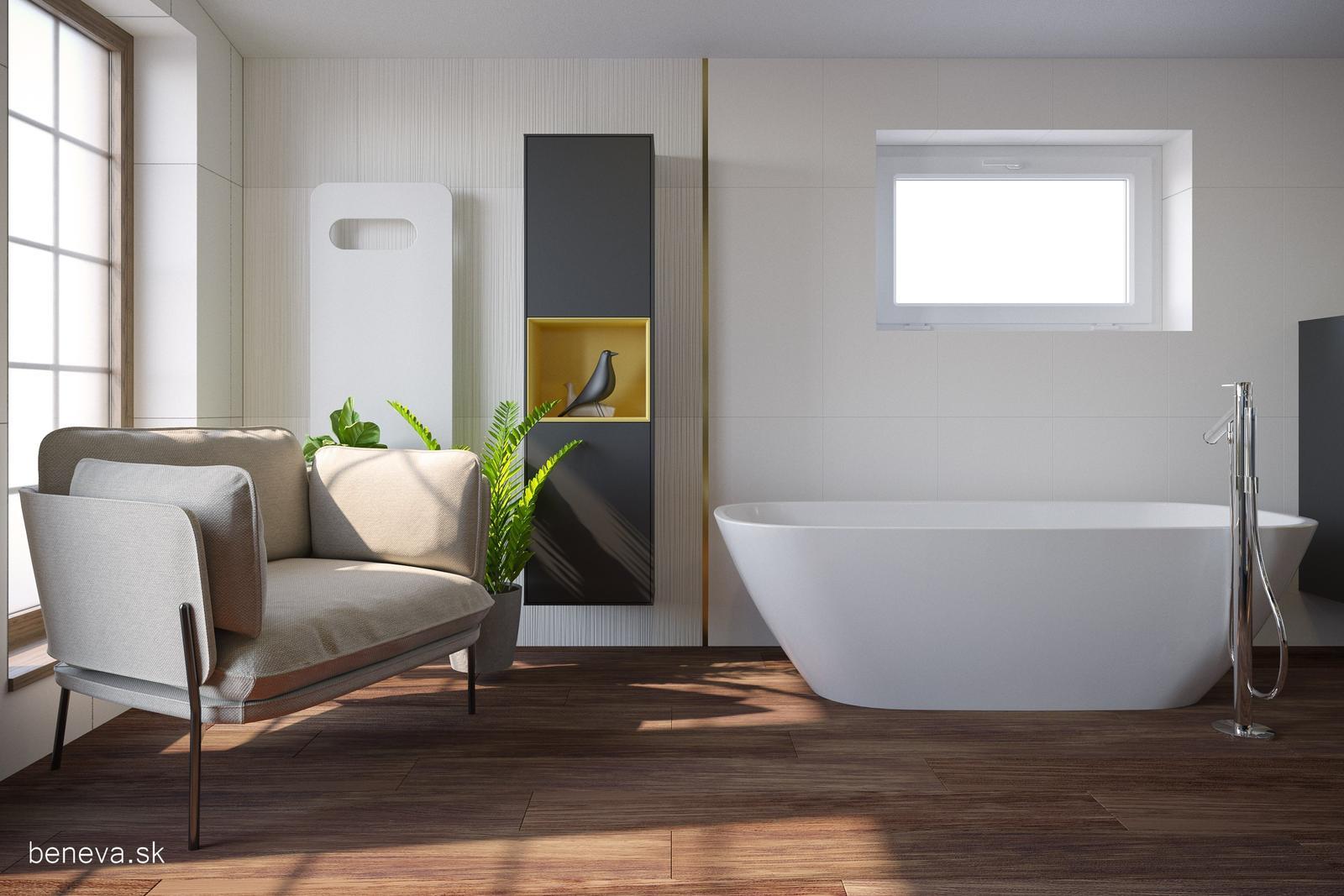 3D návrhy kúpeľní / Vizualizácie - Moderná kúpeľňa / Vizualizácia