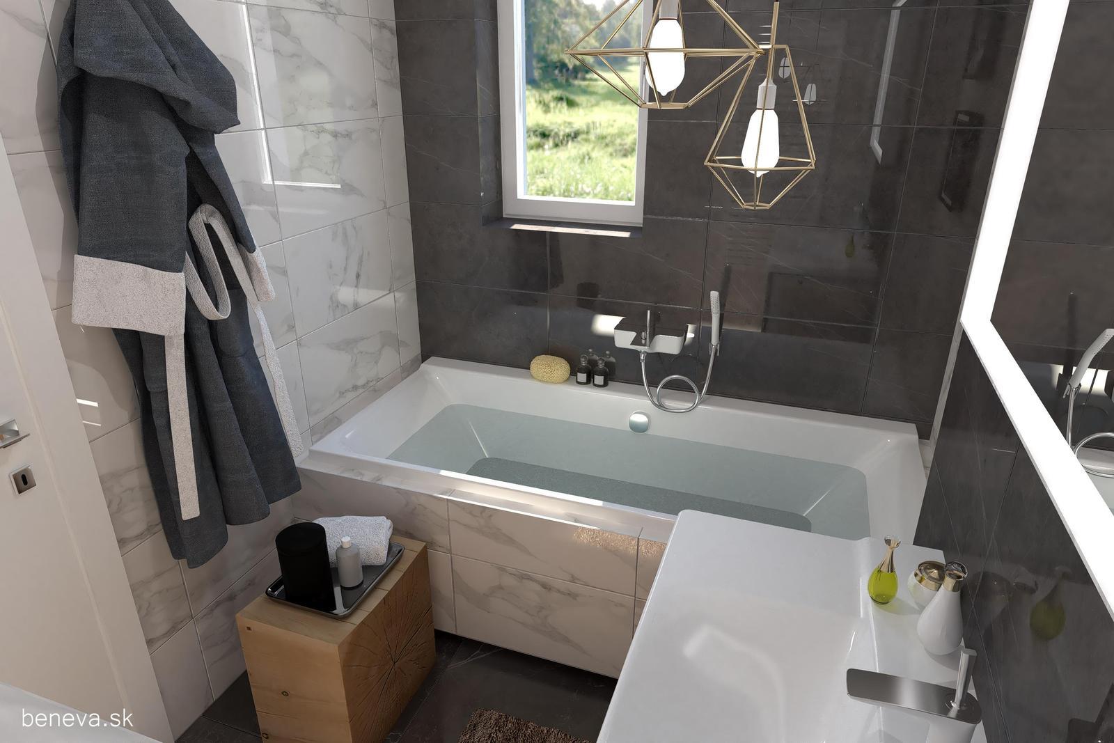 3D návrhy kúpeľní / Vizualizácie - Návrh kúpeľne 1, BENEVA