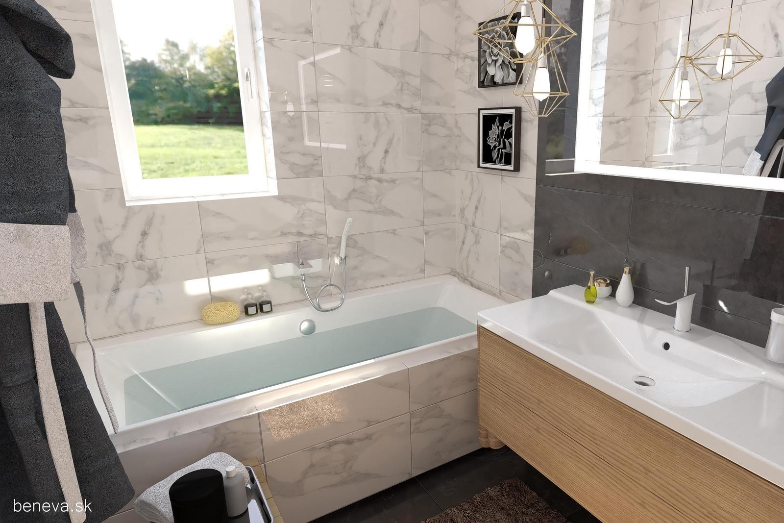 3D návrhy kúpeľní / Vizualizácie - Návrh kúpeľne 2, BENEVA