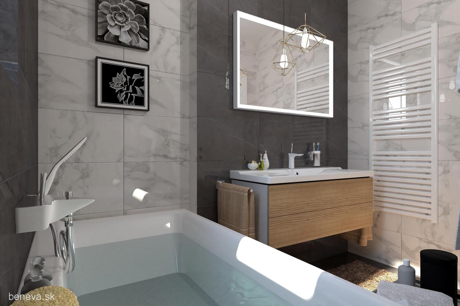 3D návrhy kúpeľní / Vizualizácie - Návrh kúpeľne 3, BENEVA