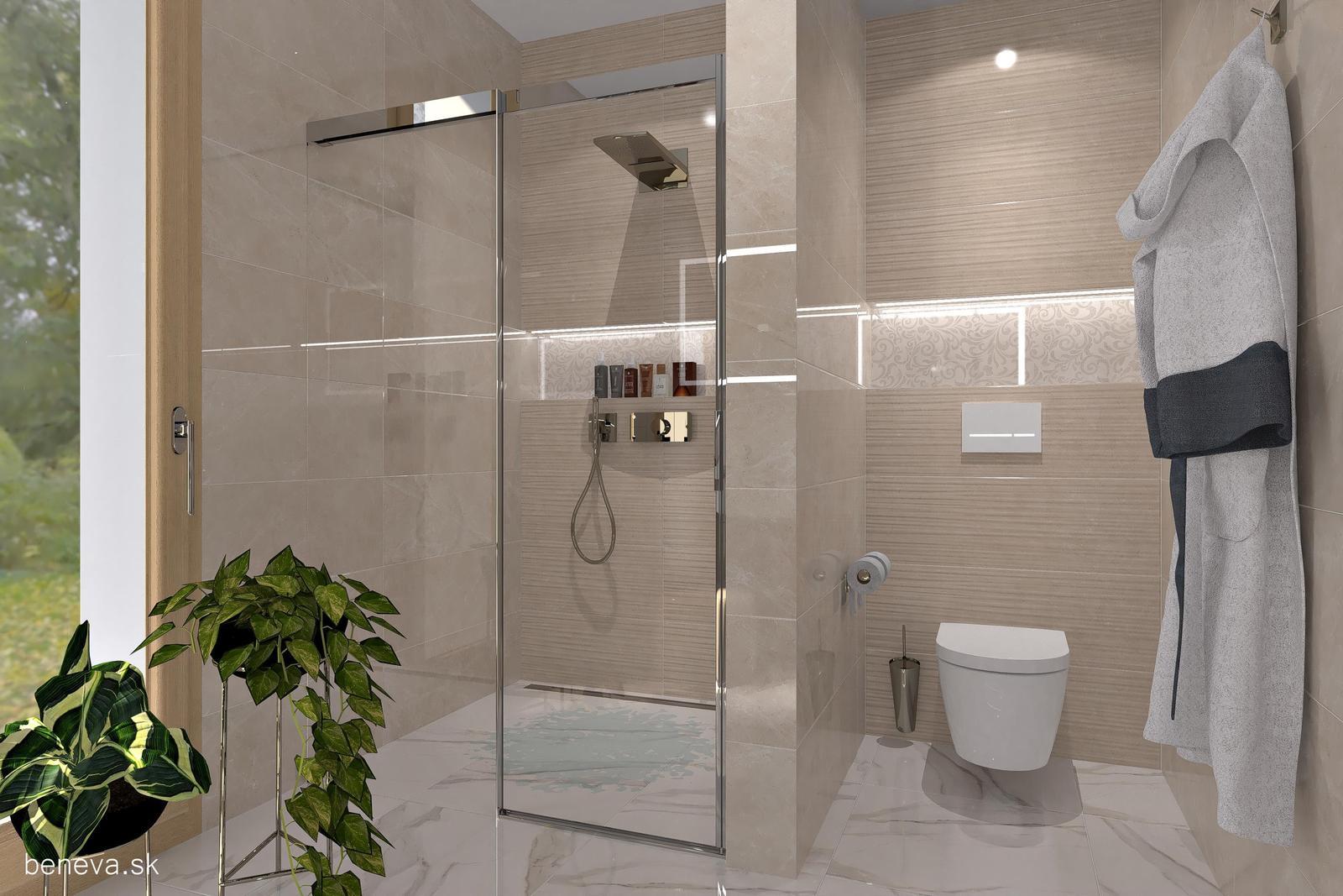 3D návrhy kúpeľní / Vizualizácie - 3D návrh / Luxusná kúpeľňa, BENEVA