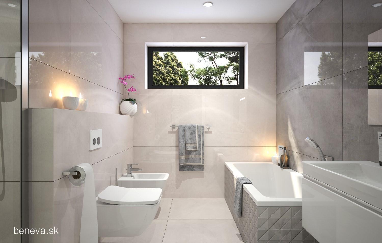 3D návrhy kúpeľní / Vizualizácie - 3D vizualizácia kúpeľne, BENEVA