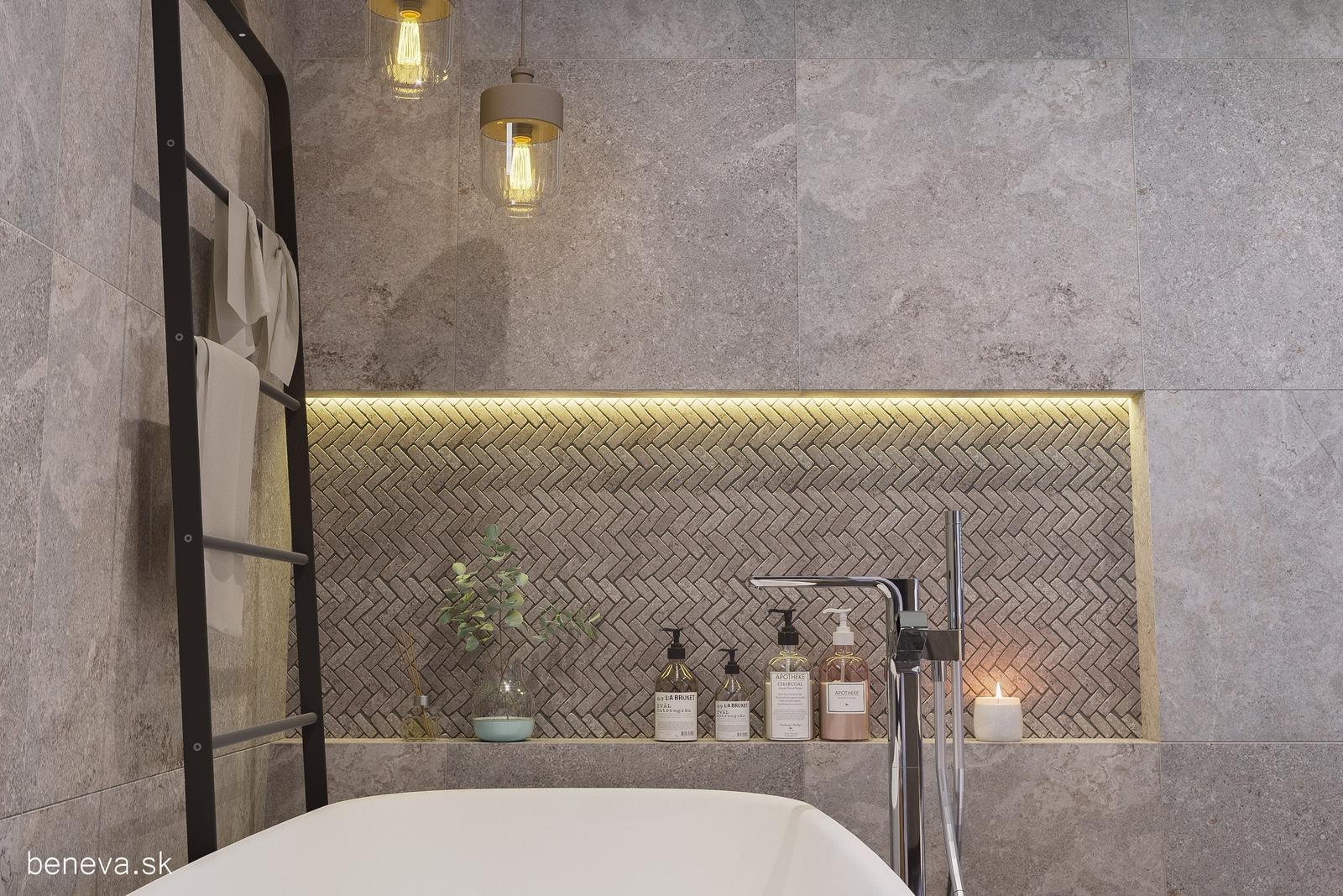 3D návrhy kúpeľní / Vizualizácie - Návrh kúpeľne, BENEVA