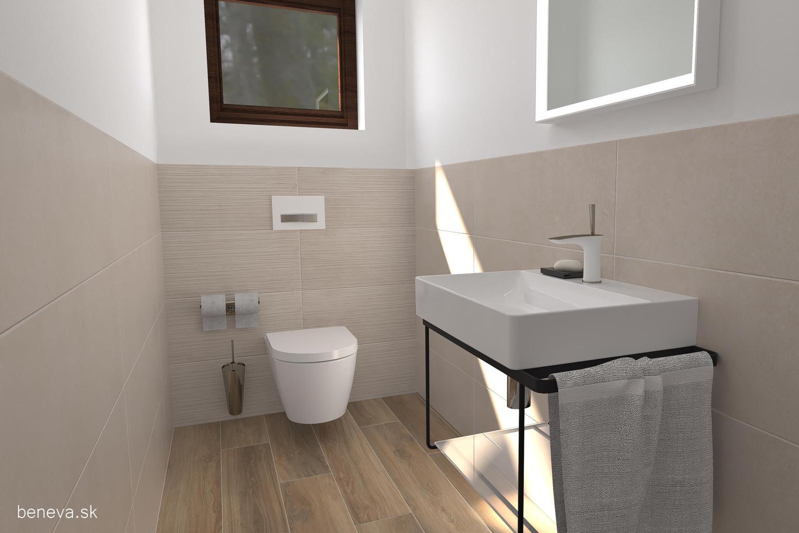 3D návrhy kúpeľní / Vizualizácie - Vizualizácia WC BENEVA