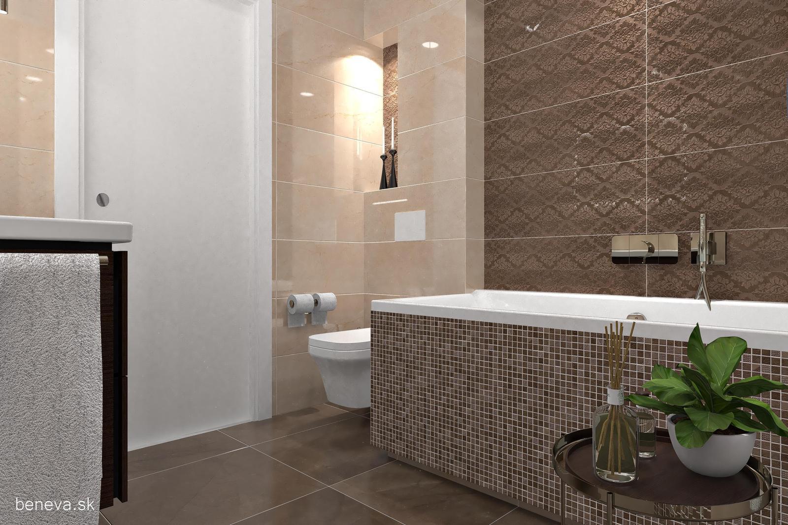 3D návrhy kúpeľní / Vizualizácie - Návrh kúpeľne BENEVA