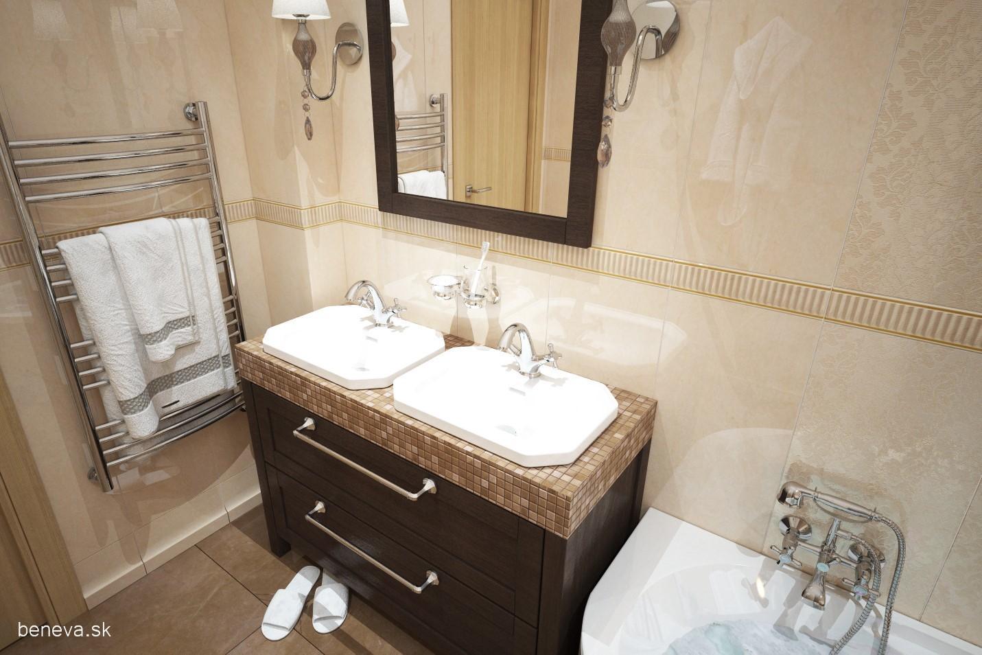 3D návrhy kúpeľní / Vizualizácie - Návrh luxusnej kúpeľne, BENEVA