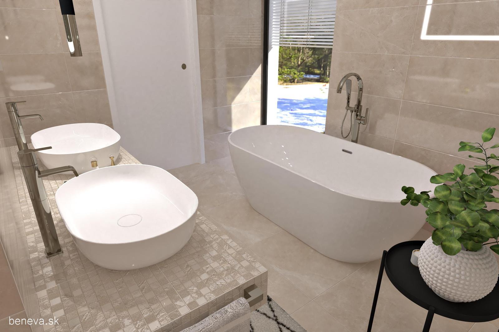 3D návrhy kúpeľní / Vizualizácie - Návrh kúpeľne