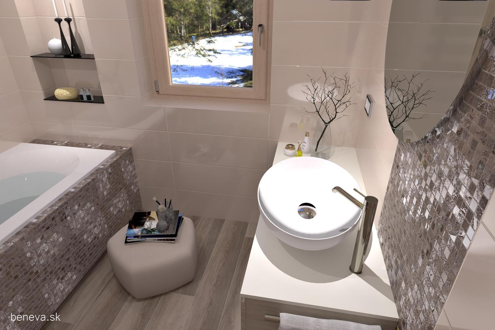 3D návrhy kúpeľní / Vizualizácie - Návrh luxusnej kúpeľne BENEVA