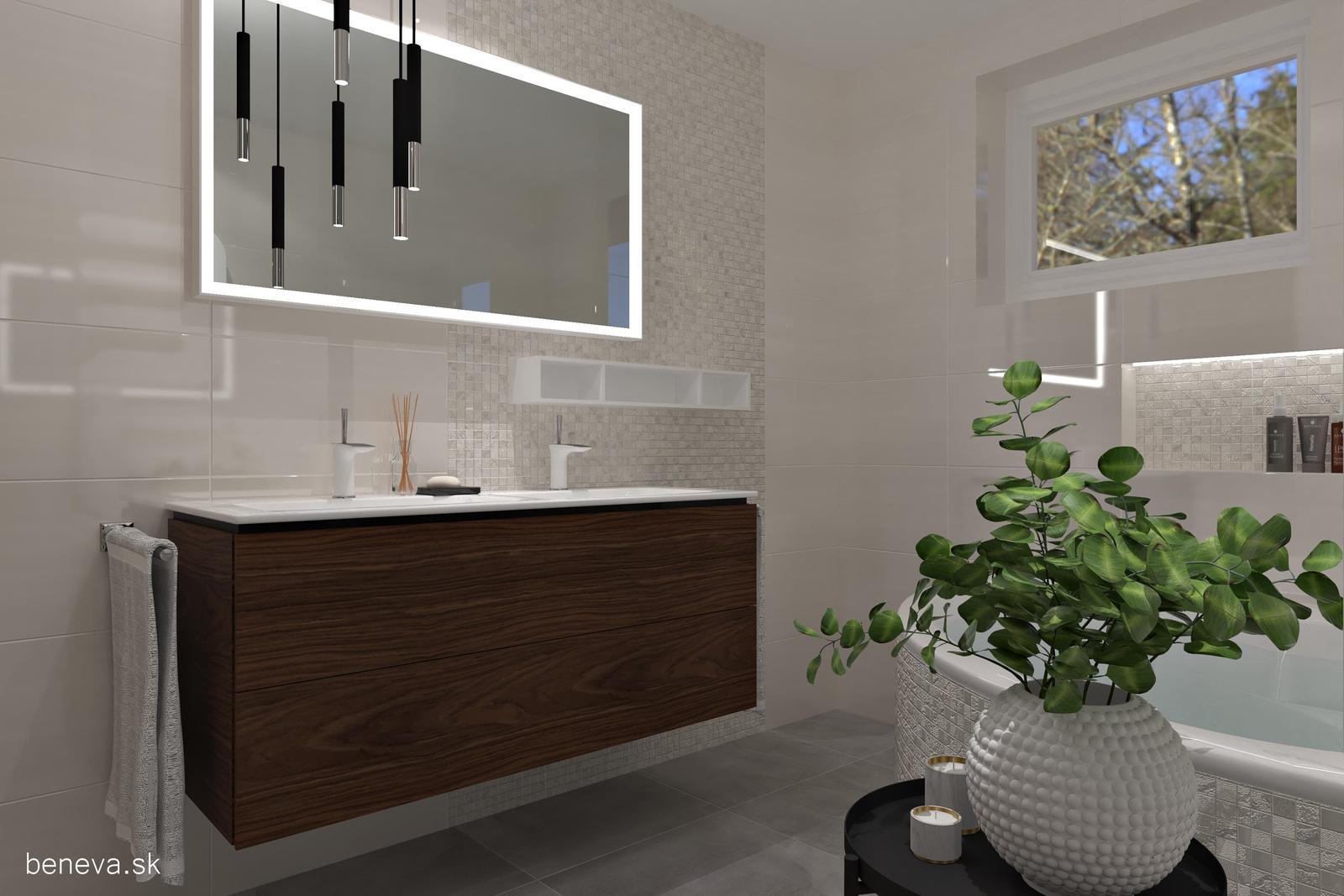 3D návrhy kúpeľní / Vizualizácie - Vizualizácia kúpeľne BENEVA