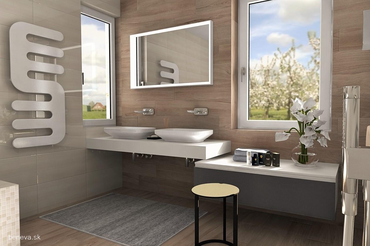 3D návrhy kúpeľní / Vizualizácie - Návrh kúpeľne / Vizualizácia BENEVA