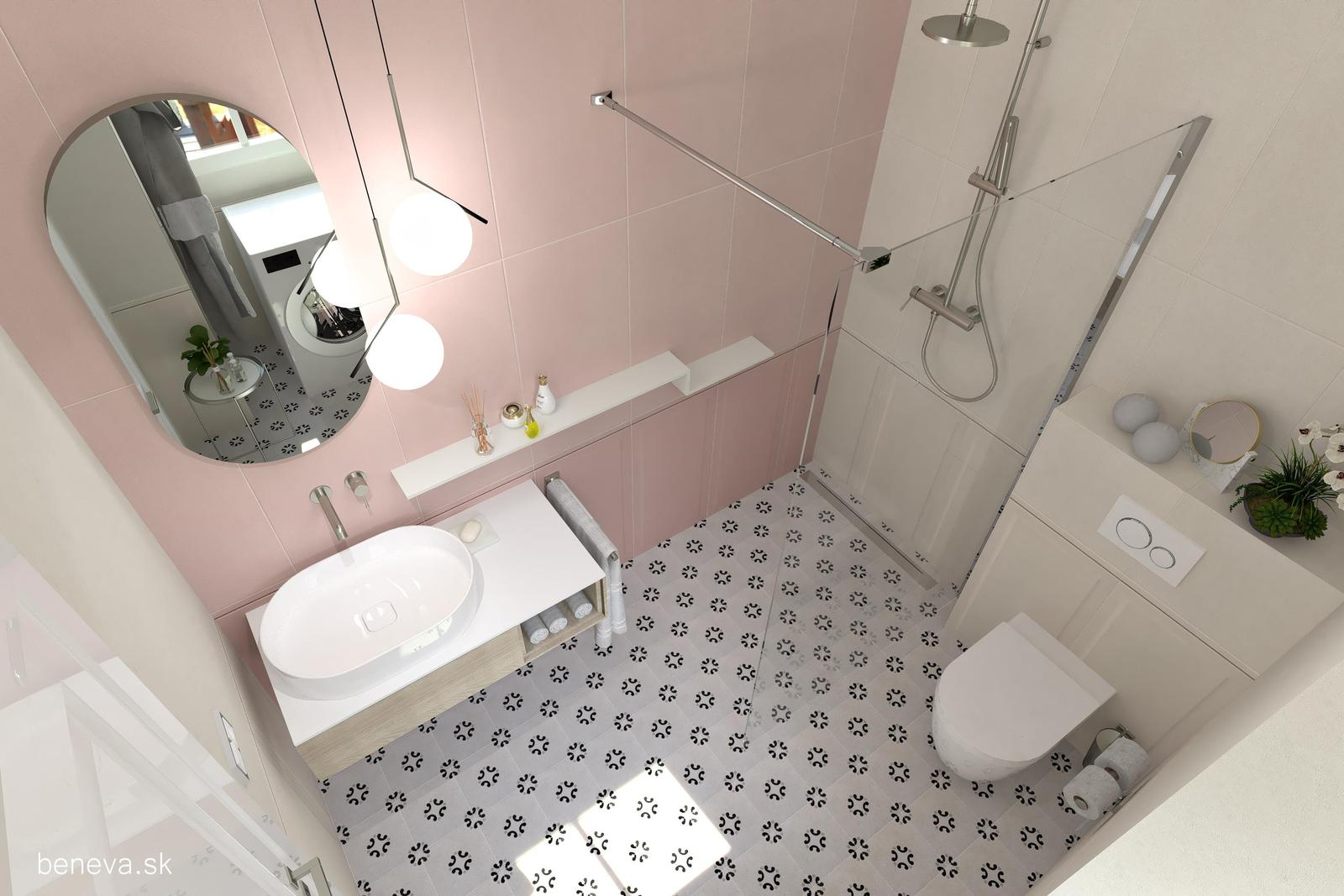 MALÁ KÚPEĽŇA / 3D návrhy - Návrh kúpeľne / Vizualizácia BENEVA