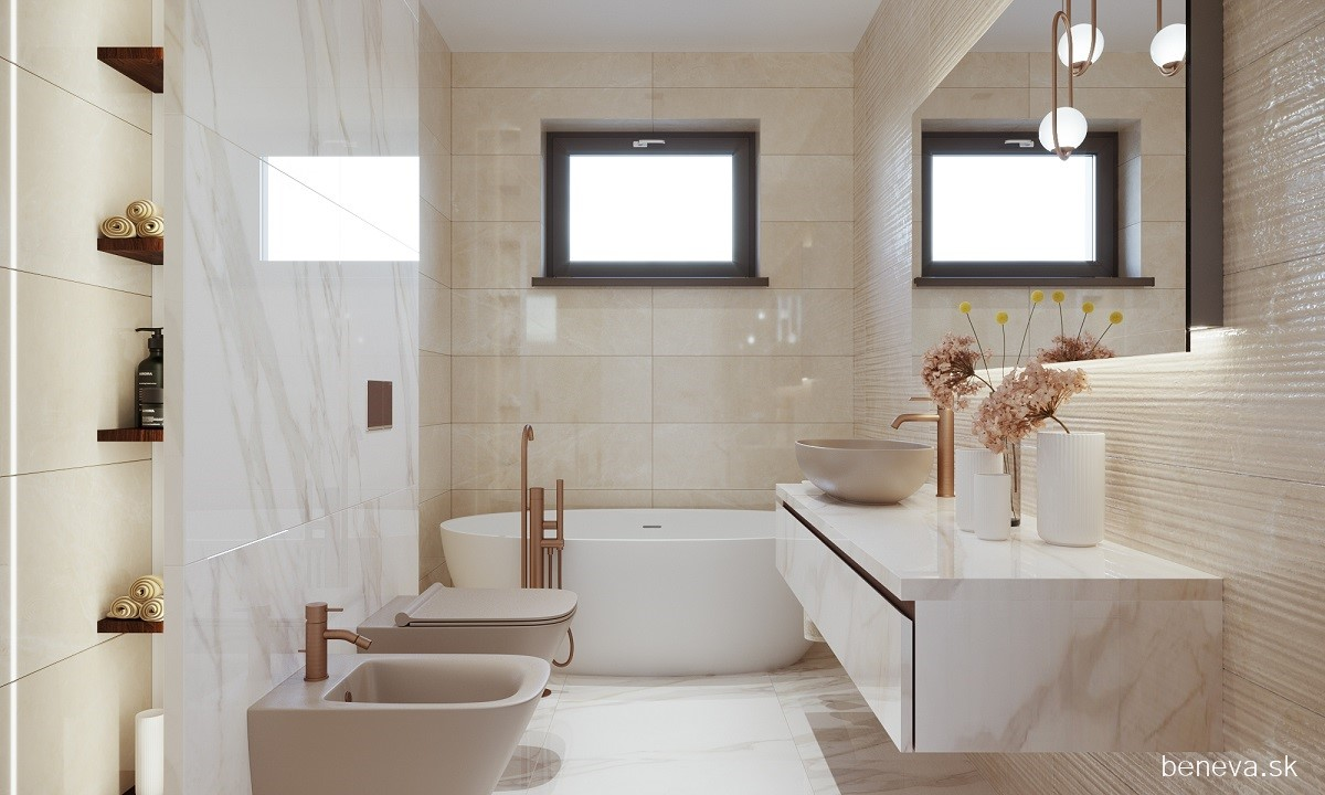Mramorová kúpeľňa - Vizualizácie - Obrázok č. 1