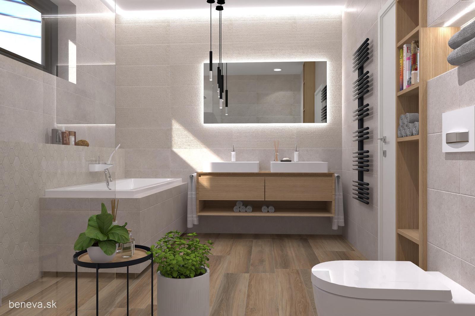 Kúpeľňa v prírodných farbách / Vizualizácia - Obrázok č. 9
