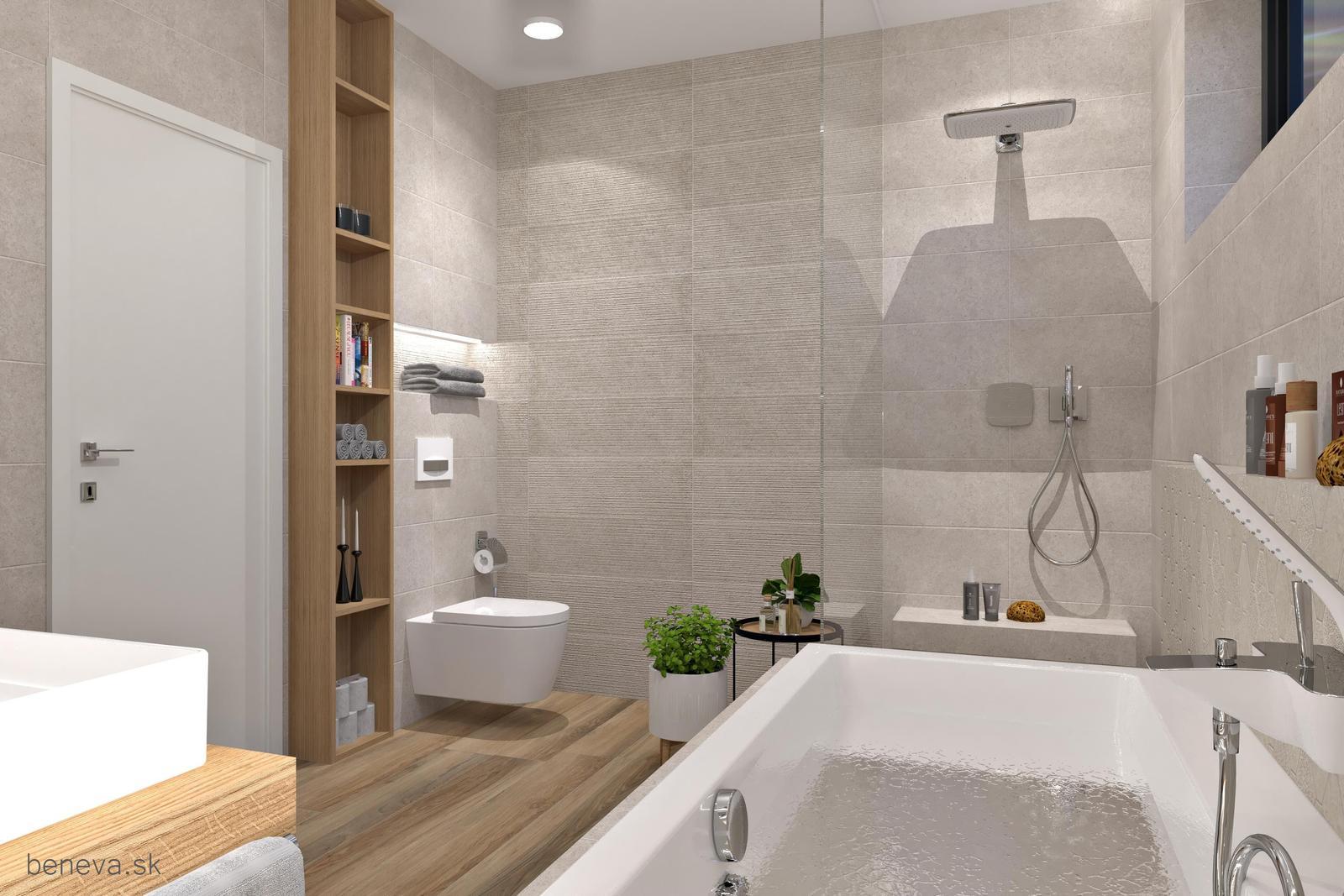 Kúpeľňa v prírodných farbách / Vizualizácia - Obrázok č. 10