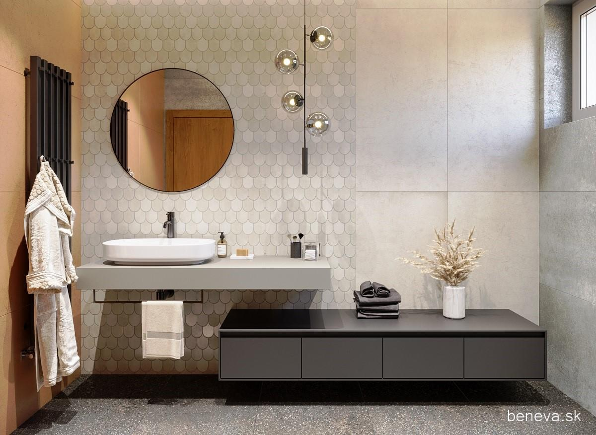 Návrh kúpeľne s metalickým efektom - Obrázok č. 7