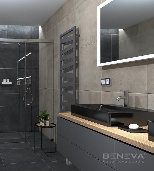 Betónový dizajn obkladov / Vizualizácie kúpeľní - Obrázok č. 10