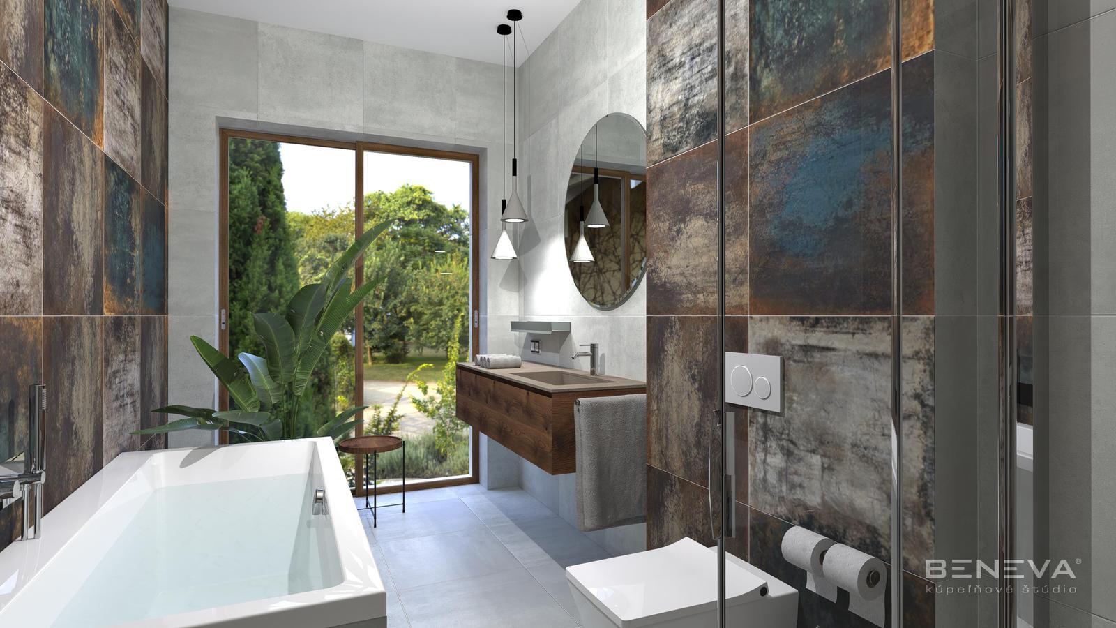 Návrh kúpeľne s metalickým efektom - Obrázok č. 11