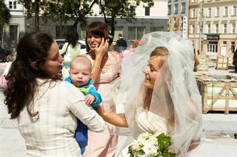 najmladší svadobčan a moja švagrinka Lini