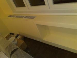 radiátor zakrytý