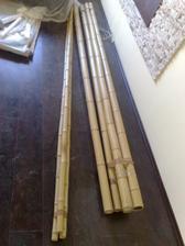 bambusy pripravené k dekoráciám