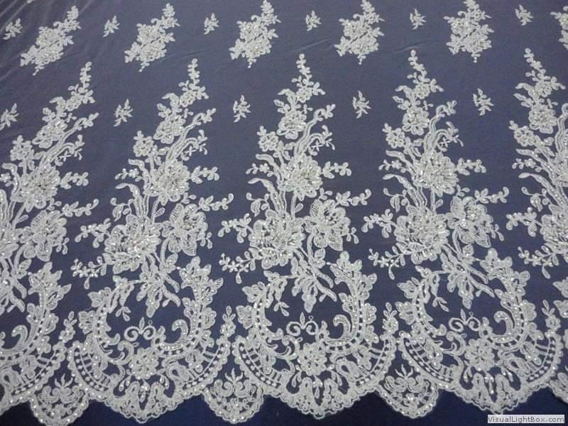 Na výrobu vašich svadobných šiat používame kvalitné čipky ,krajky mušeliny organzy i satény - Obrázok č. 1