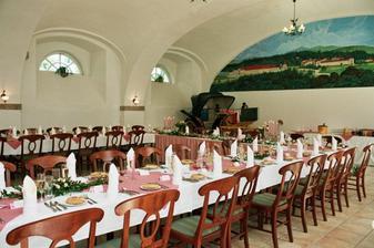 slavnostní tabule hotel Metternich