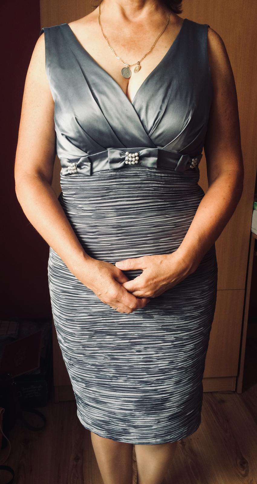 Sivé bavlnené šaty - Obrázok č. 1
