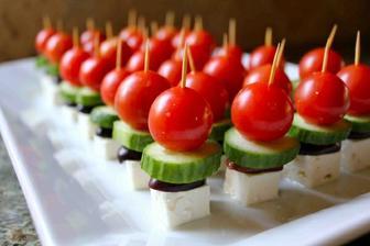 řecký salát ve formě jednohubek:-)