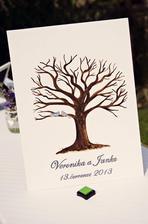 Svatební strom před otisky.....