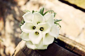 Moje svatební kytice...Jednoduchá, ale krásná!!