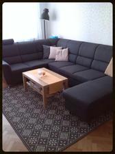 Nová sedačka konečně doma. Časem ještě nový konferák a koberec....