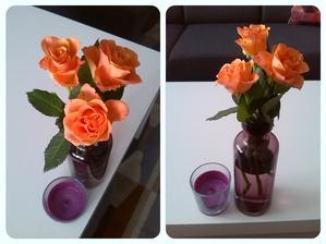 Dneska jsem byla manželem obdařena třemi růžemi, ačkoliv je to ON, kdo by měl být obskakován. Po reko balkonu, dnešního mytí oken v den svých jmenin.... Božeee, já jsem unavená, jak kdybych vyšlapala Sněžku :-)
