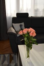 Včera Jeníček oslavoval 4 měsíce, tak maminka dostala růžičky...