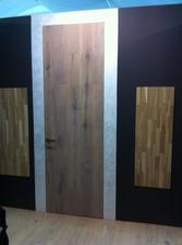 Vystava 6.2. - 9.2. 2014 Praha Holešovice Drevostavby - dvere Šimbera so skrytou zárubnou dub bieleny