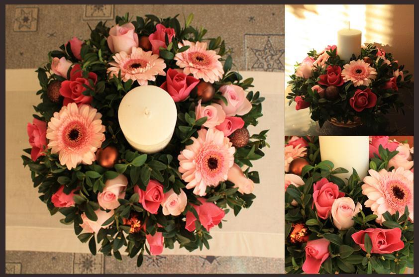 Kvetinové tvorenie - vianočný aranžmán