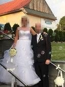 Tylové svadobné šaty na vyššiu a pevnejšiu postavu, 42